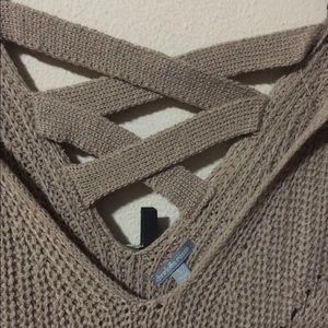 Charlotte Russe Sweaters - LAST CHANCE!! Taupe/brown knit sweater.